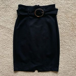 7 For All Mankind Black Pencil Skirt Size S